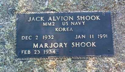 SHOOK, JACK ALVION - Yavapai County, Arizona | JACK ALVION SHOOK - Arizona Gravestone Photos
