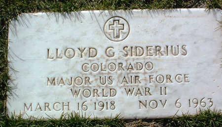 SIDERIUS, LLOYD C. - Yavapai County, Arizona | LLOYD C. SIDERIUS - Arizona Gravestone Photos