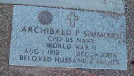 SIMMONS, ARCHIBALD P. - Yavapai County, Arizona | ARCHIBALD P. SIMMONS - Arizona Gravestone Photos