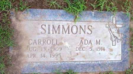 SIMMONS, CARROLL - Yavapai County, Arizona | CARROLL SIMMONS - Arizona Gravestone Photos