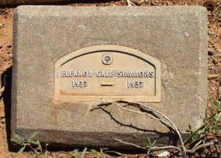 SIMMONS, ELEANOR GALE - Yavapai County, Arizona   ELEANOR GALE SIMMONS - Arizona Gravestone Photos
