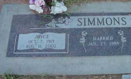 SIMMONS, JOYCE - Yavapai County, Arizona   JOYCE SIMMONS - Arizona Gravestone Photos