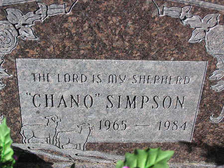 "SIMPSON, GILBERT  ""CHANO"" - Yavapai County, Arizona 