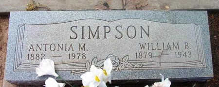 SIMPSON, WILLIAM BENNETT - Yavapai County, Arizona | WILLIAM BENNETT SIMPSON - Arizona Gravestone Photos