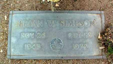 SIMPSON, BRIAN W. - Yavapai County, Arizona | BRIAN W. SIMPSON - Arizona Gravestone Photos