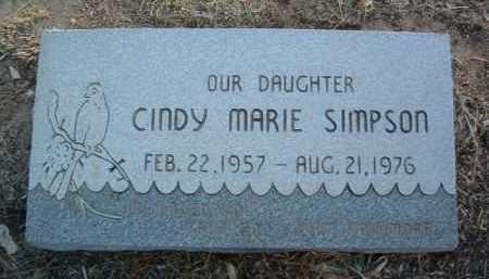 SIMPSON, CINDY MARIE - Yavapai County, Arizona | CINDY MARIE SIMPSON - Arizona Gravestone Photos