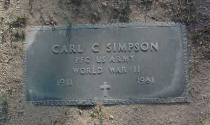SIMPSON, CARL CEVIEL - Yavapai County, Arizona | CARL CEVIEL SIMPSON - Arizona Gravestone Photos