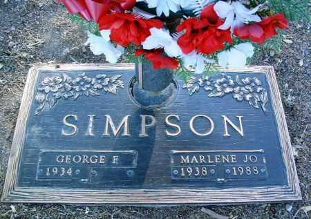 SIMPSON, GEORGE F. - Yavapai County, Arizona | GEORGE F. SIMPSON - Arizona Gravestone Photos