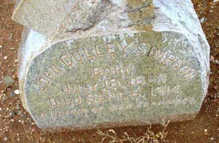 SIMPSON, JOHN CULLEY - Yavapai County, Arizona | JOHN CULLEY SIMPSON - Arizona Gravestone Photos