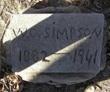 SIMPSON, WILLIAM CLAY - Yavapai County, Arizona | WILLIAM CLAY SIMPSON - Arizona Gravestone Photos