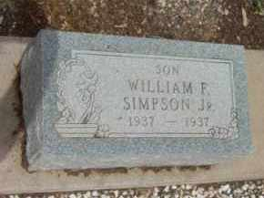 SIMPSON, WILLIAM F., JR. - Yavapai County, Arizona | WILLIAM F., JR. SIMPSON - Arizona Gravestone Photos