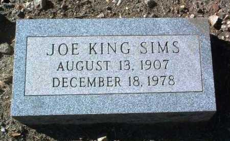 SIMS, JOSEPH KING - Yavapai County, Arizona   JOSEPH KING SIMS - Arizona Gravestone Photos