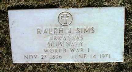 SIMS, RALPH J. - Yavapai County, Arizona | RALPH J. SIMS - Arizona Gravestone Photos