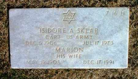 SKLAR, ISIDORE A. - Yavapai County, Arizona | ISIDORE A. SKLAR - Arizona Gravestone Photos