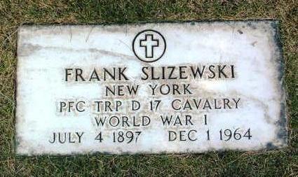 SLIZEWSKI, FRANK - Yavapai County, Arizona   FRANK SLIZEWSKI - Arizona Gravestone Photos