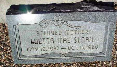 SLOAN, LUETTA MAE - Yavapai County, Arizona   LUETTA MAE SLOAN - Arizona Gravestone Photos