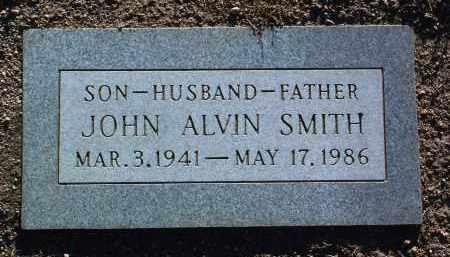 SMITH, JOHN ALVIN - Yavapai County, Arizona   JOHN ALVIN SMITH - Arizona Gravestone Photos