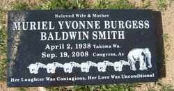 BALDWIN, MURIEL YVONNE - Yavapai County, Arizona | MURIEL YVONNE BALDWIN - Arizona Gravestone Photos