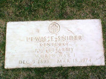 SNIDER, LEWIS E. - Yavapai County, Arizona   LEWIS E. SNIDER - Arizona Gravestone Photos