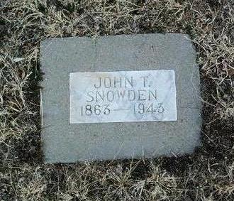 SNOWDEN, JOHN THOMPSON - Yavapai County, Arizona | JOHN THOMPSON SNOWDEN - Arizona Gravestone Photos