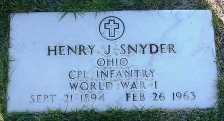 SNYDER, HENRY J. - Yavapai County, Arizona | HENRY J. SNYDER - Arizona Gravestone Photos