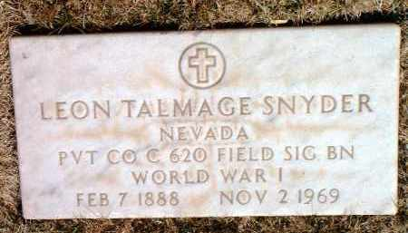SNYDER, LEON TALMAGE - Yavapai County, Arizona | LEON TALMAGE SNYDER - Arizona Gravestone Photos