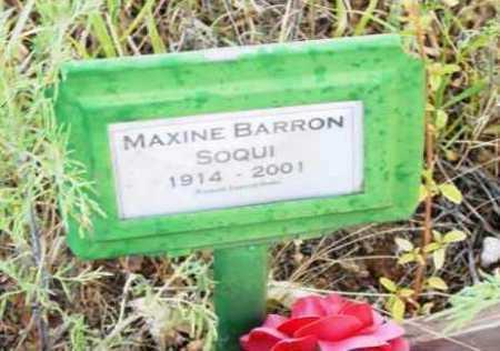 BARRON SOQUI, MAXINE - Yavapai County, Arizona | MAXINE BARRON SOQUI - Arizona Gravestone Photos