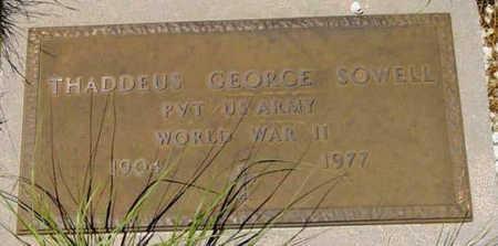 SOWELL, THADDEUS GEORGE - Yavapai County, Arizona | THADDEUS GEORGE SOWELL - Arizona Gravestone Photos