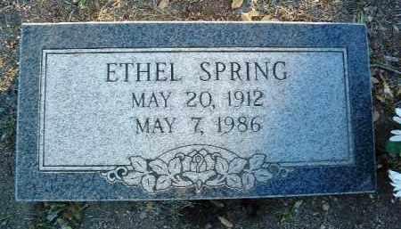 BENNETT SPRING, ETHEL - Yavapai County, Arizona   ETHEL BENNETT SPRING - Arizona Gravestone Photos