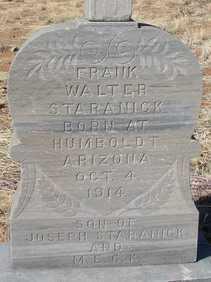 STARANICK, FRANK WALTER - Yavapai County, Arizona | FRANK WALTER STARANICK - Arizona Gravestone Photos