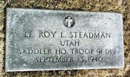 STEADMAN, LE ROY L. - Yavapai County, Arizona | LE ROY L. STEADMAN - Arizona Gravestone Photos