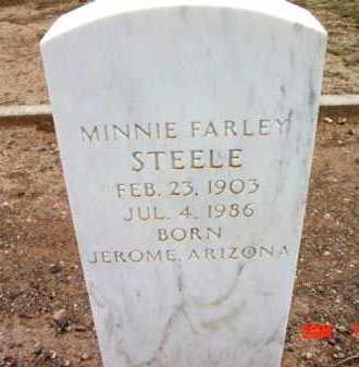 STEEL, MINNIE FARLEY - Yavapai County, Arizona   MINNIE FARLEY STEEL - Arizona Gravestone Photos