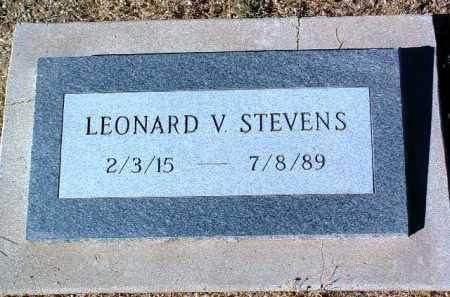 STEVENS, LEONARD V. - Yavapai County, Arizona | LEONARD V. STEVENS - Arizona Gravestone Photos