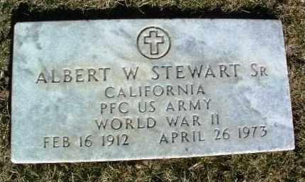 STEWART, ALBERT W., SR. - Yavapai County, Arizona   ALBERT W., SR. STEWART - Arizona Gravestone Photos