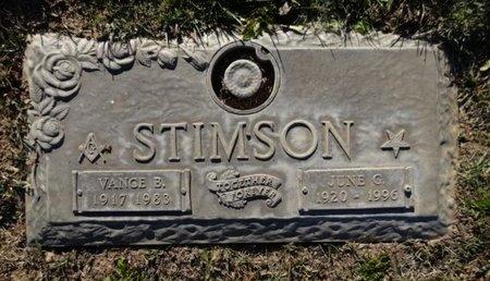 STIMSON, VANCE B. - Yavapai County, Arizona | VANCE B. STIMSON - Arizona Gravestone Photos
