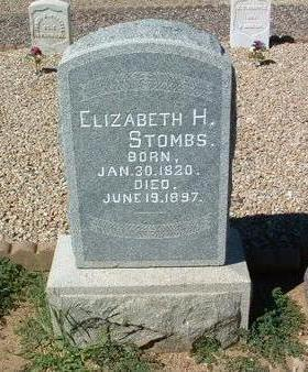 STOMBS, ELIZABETH HARRIET - Yavapai County, Arizona   ELIZABETH HARRIET STOMBS - Arizona Gravestone Photos
