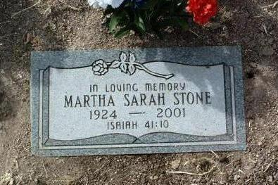 STONE, MARTHA SARAH - Yavapai County, Arizona | MARTHA SARAH STONE - Arizona Gravestone Photos