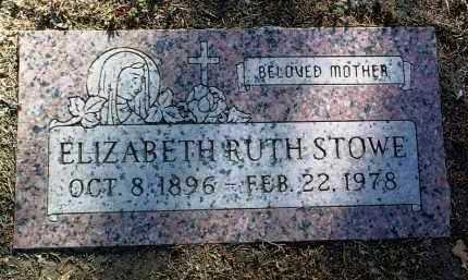 STOWE, ELIZABETH RUTH - Yavapai County, Arizona   ELIZABETH RUTH STOWE - Arizona Gravestone Photos