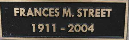 STREET, FRANCES MARION - Yavapai County, Arizona   FRANCES MARION STREET - Arizona Gravestone Photos
