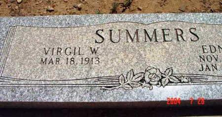 SUMMERS, VIRGIL W. - Yavapai County, Arizona   VIRGIL W. SUMMERS - Arizona Gravestone Photos