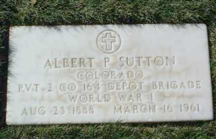 SUTTON, ALBERT PIERCE - Yavapai County, Arizona | ALBERT PIERCE SUTTON - Arizona Gravestone Photos