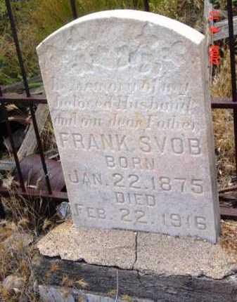 SVOB, FRANK - Yavapai County, Arizona   FRANK SVOB - Arizona Gravestone Photos