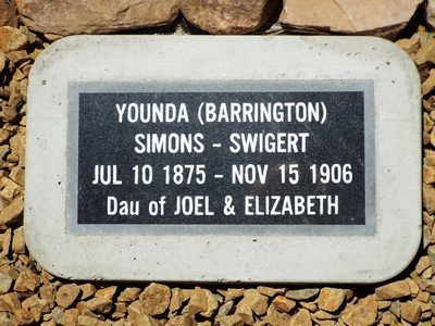 BARRINGTON SIMONS, YOUNDA - Yavapai County, Arizona | YOUNDA BARRINGTON SIMONS - Arizona Gravestone Photos