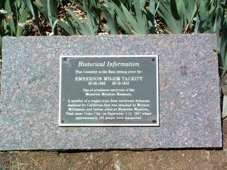 TACKITT, EMBERSON MILUM - Yavapai County, Arizona   EMBERSON MILUM TACKITT - Arizona Gravestone Photos