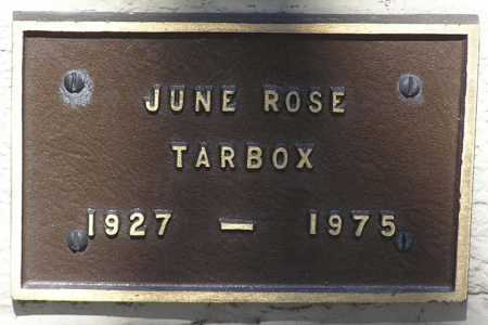 LILLIE TARBOX, JUNE ROSE - Yavapai County, Arizona | JUNE ROSE LILLIE TARBOX - Arizona Gravestone Photos