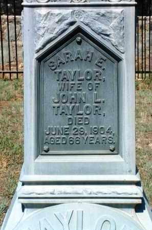 TAYLOR, SARAH E. - Yavapai County, Arizona   SARAH E. TAYLOR - Arizona Gravestone Photos