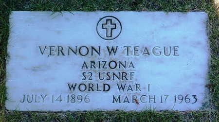 TEAGUE, VERNON W. - Yavapai County, Arizona   VERNON W. TEAGUE - Arizona Gravestone Photos