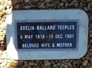 BALLARD TEEPLES, ADELIA ADELINE - Yavapai County, Arizona | ADELIA ADELINE BALLARD TEEPLES - Arizona Gravestone Photos