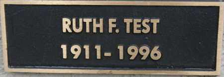 TEST, RUTH F. - Yavapai County, Arizona | RUTH F. TEST - Arizona Gravestone Photos