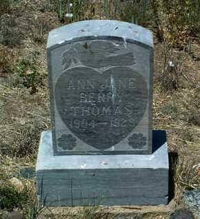 THOMAS, ANN JANE - Yavapai County, Arizona | ANN JANE THOMAS - Arizona Gravestone Photos